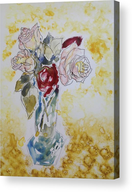 Impressionistic Acrylic Print featuring the painting Scents Of Summer by DJ Stone