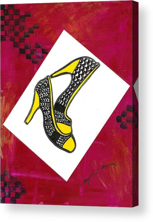 Double Canvas Acrylic Print featuring the painting Shoes by Maggie Morrison