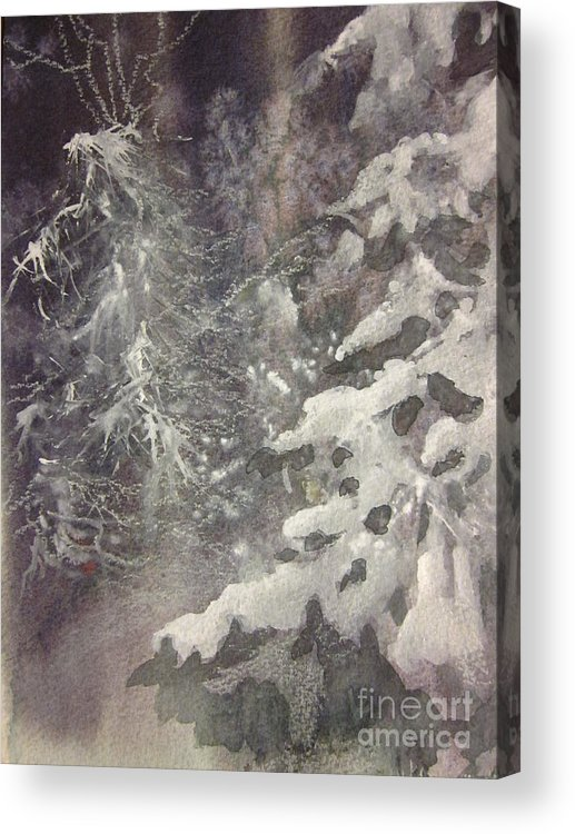 Snow Acrylic Print featuring the painting Silent Night by Elizabeth Carr