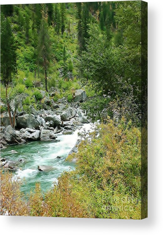 River Acrylic Print featuring the photograph Snoqualmie River by Craig Wood