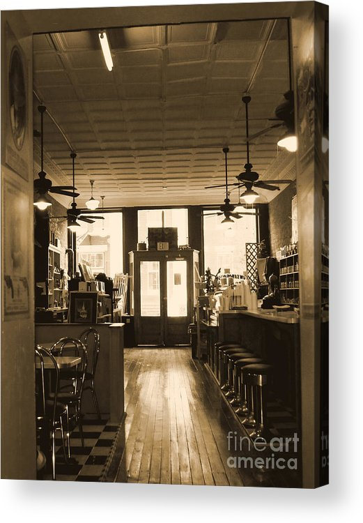 Soda Shop Acrylic Print featuring the photograph Soda Fountain And General Store by Debra Crank