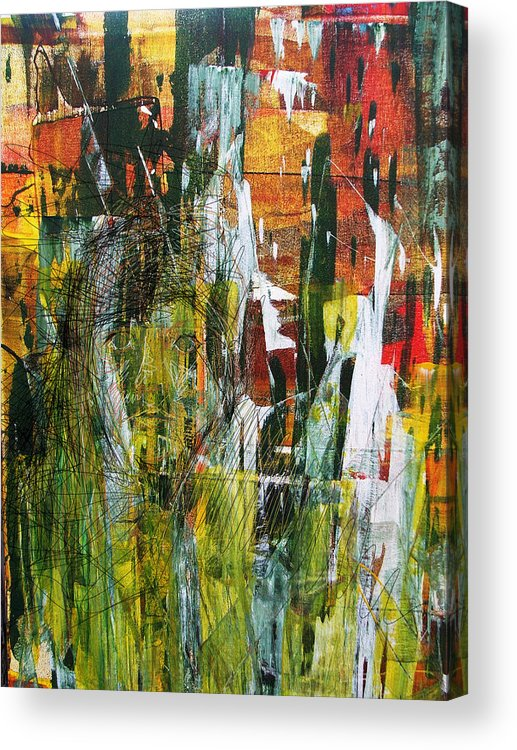 Souled Acrylic Print featuring the painting Souled Forest by Fromatoz arts