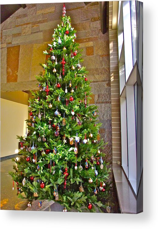 spanish christmas tree decorations in fredrik meijer gardens and sculpture park in grand rapids acrylic print