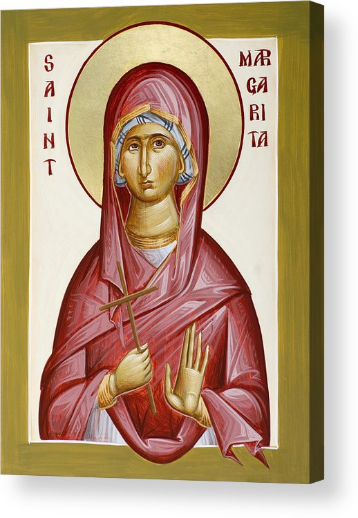 St Margarita Acrylic Print featuring the painting St Margarita by Julia Bridget Hayes