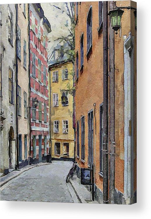 Stockholm Acrylic Print featuring the digital art Stockholm 15 by Yury Malkov