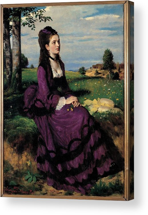 Portrait Acrylic Print featuring the photograph Szinyei Merse Pal, Portrait Of A Woman by Everett