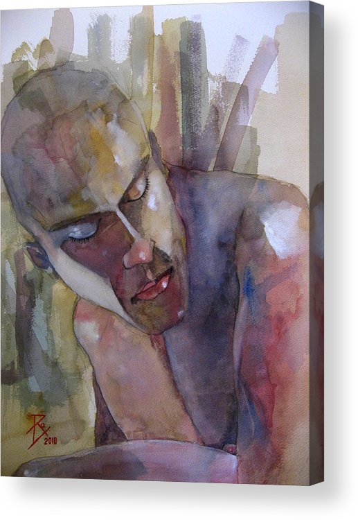 Male Acrylic Print featuring the painting Terrence by Ray Agius