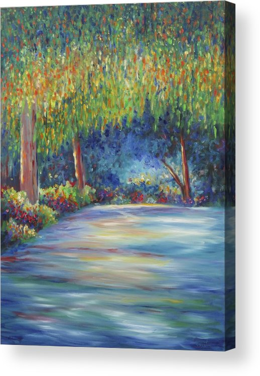 Landscape Acrylic Print featuring the painting The Edge by Shannon Grissom
