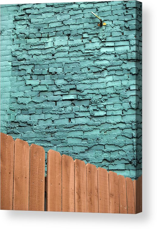 Detroit Acrylic Print featuring the photograph The Green Wall by Gabrielle Corley