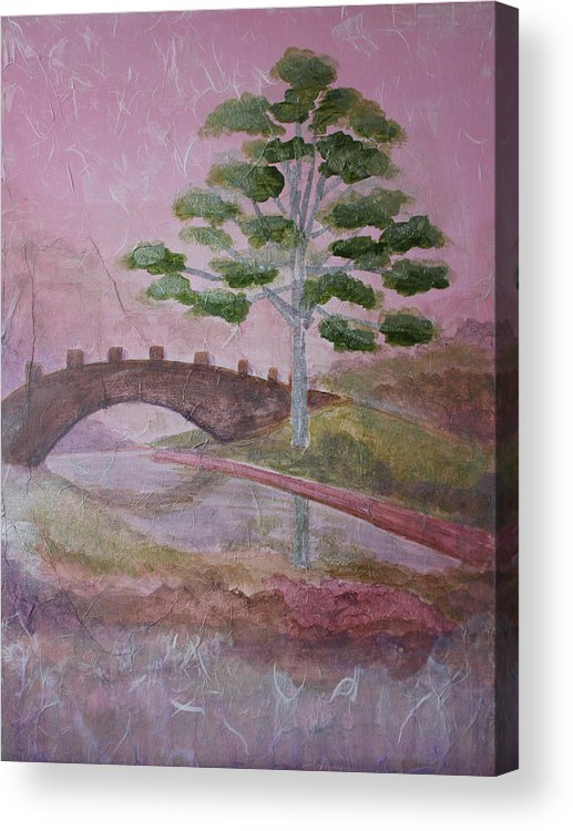 Tree Acrylic Print featuring the painting The Silver Tree by Catherine Sprague