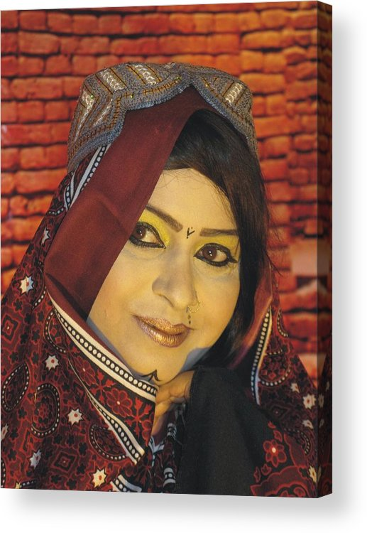 Folk Festival Sialkot Acrylic Print featuring the photograph The Singer by Bobby Dar