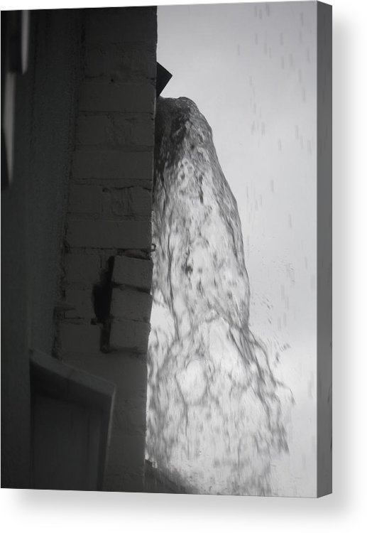 Bricks Acrylic Print featuring the photograph Torrential Water Spout by James Potts