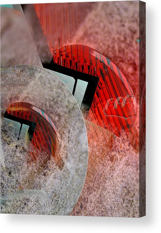 Montage Acrylic Print featuring the ceramic art Toss Of The Coin by Roger Smith