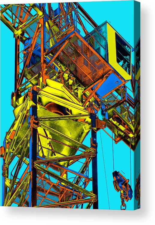 Tower Crane Acrylic Print featuring the photograph Towering 5 by Wendy J St Christopher