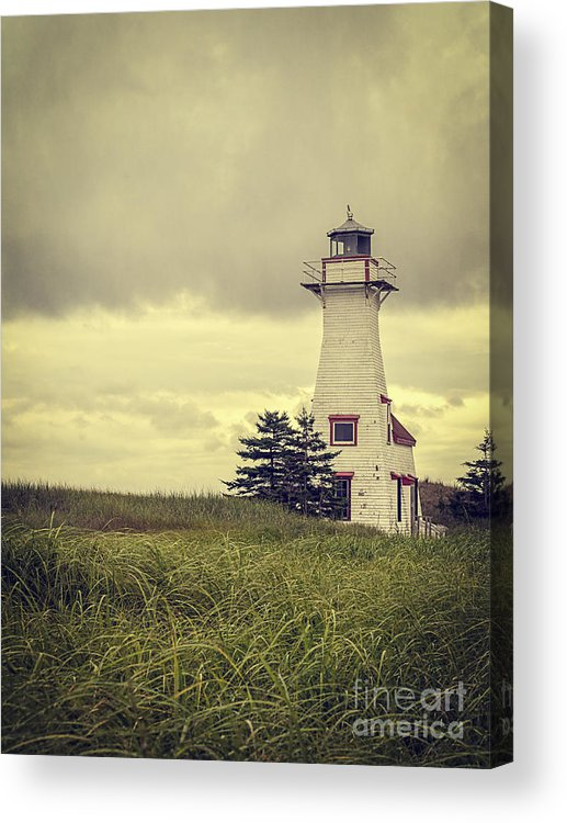 Prince Acrylic Print featuring the photograph Vintage Lighthouse Pei by Edward Fielding