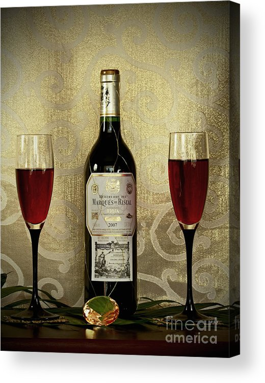 Vintage Wine Lovers Acrylic Print featuring the photograph Vintage Wine Lovers by Inspired Nature Photography Fine Art Photography