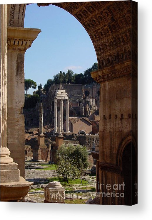 Italy Acrylic Print featuring the photograph Visions Of Rome by Nancy Bradley