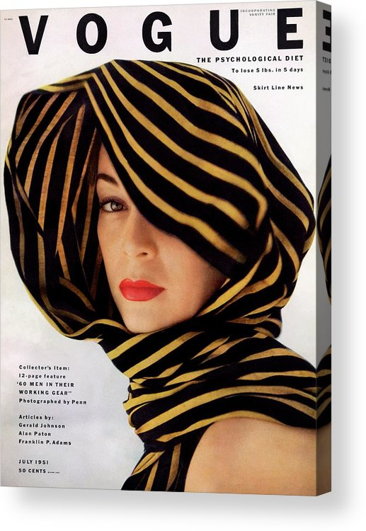 Fashion Acrylic Print featuring the photograph Vogue Cover Of Jean Patchett by Clifford Coffin