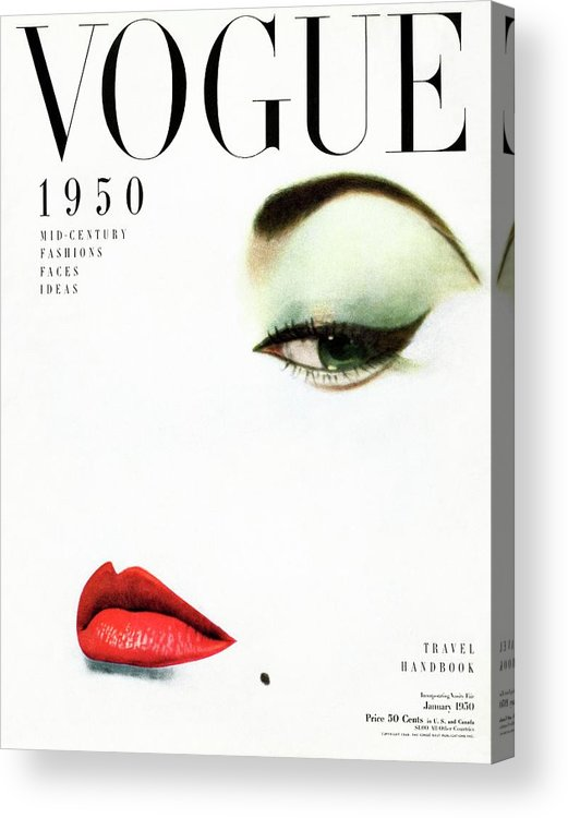 Beauty Acrylic Print featuring the photograph Vogue Cover Of Jean Patchett by Erwin Blumenfeld
