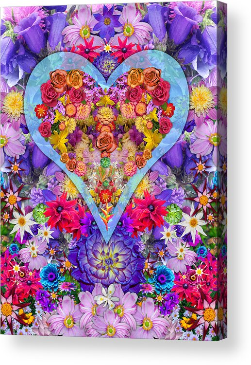 Wild Flower Heart Acrylic Print featuring the photograph Wild Flower Heart by Alixandra Mullins