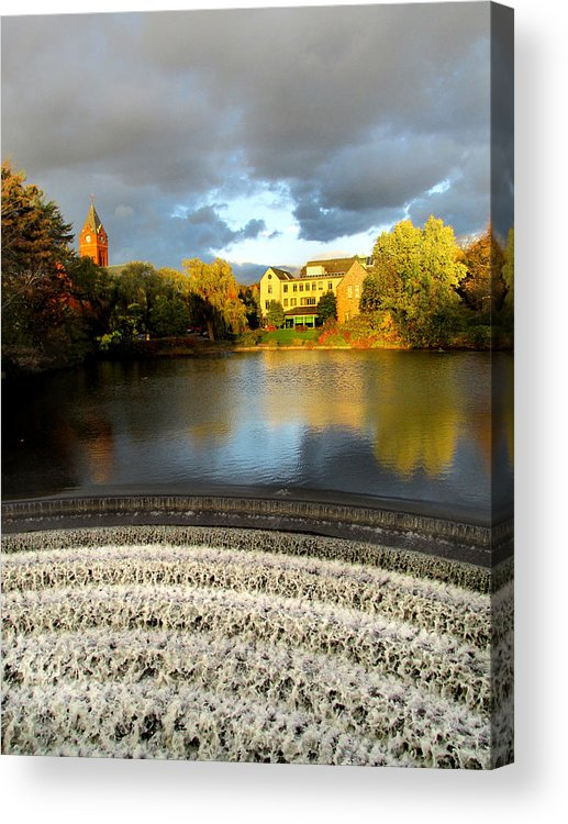 Winchester Acrylic Print featuring the photograph Winchester Public Library by John Swencki