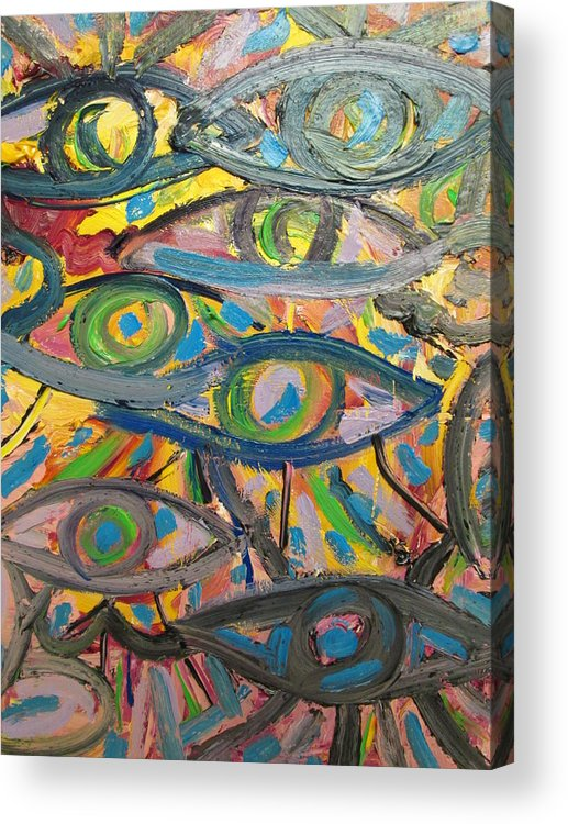 Acrylic Print featuring the painting Eyes In Disguise by Forrest Kelley