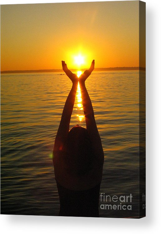 Holding The Sun Acrylic Print featuring the photograph Holding The Sun by Jaime Hernandez