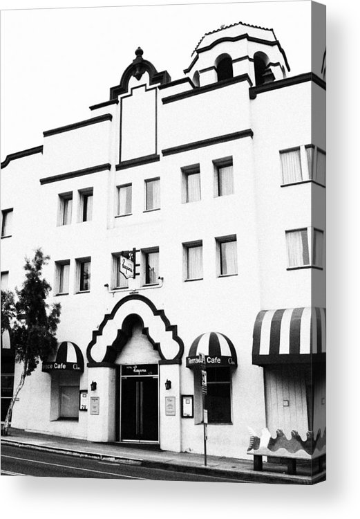 Hotel Laguna Acrylic Print featuring the photograph Hotel Laguna by Rosanne Nitti