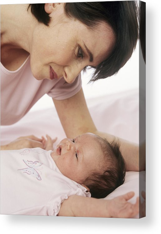Human Acrylic Print featuring the photograph Mother And Baby by Ian Boddy