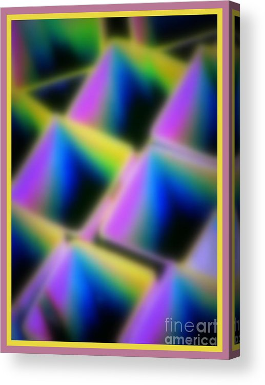 Abstract Acrylic Print featuring the digital art Squares by Irina Hays