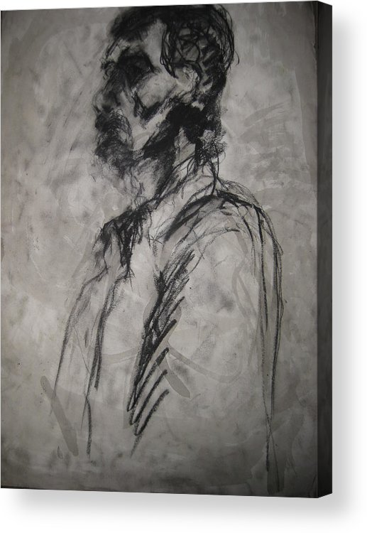 Fine Art Acrylic Print featuring the drawing Untitled by Iris Gill