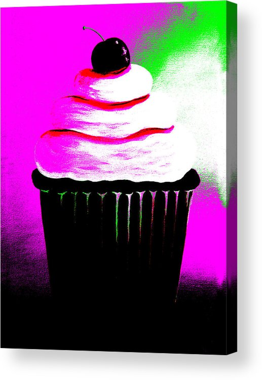Abstract Acrylic Print featuring the painting Abstract Cupcakes By Shawna Erback by Artisan Parlour