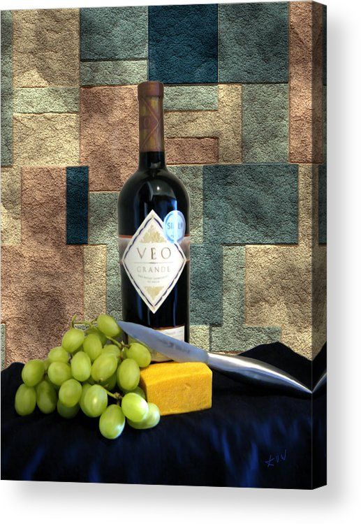 Wine Acrylic Print featuring the photograph Afternoon Delights by Kurt Van Wagner