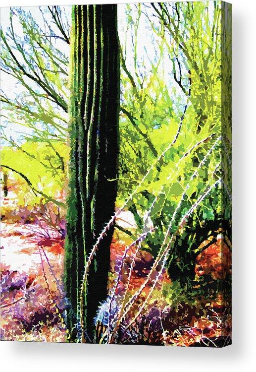 Arid Acrylic Print featuring the digital art Arizona Catcus by Artistic Photos