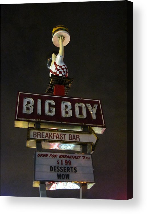 Business Acrylic Print featuring the photograph Big Boy At The Top by Guy Ricketts