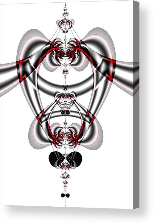 Fractal Art Digital Art Acrylic Print featuring the digital art Bloody Pendant by Frederic Durville