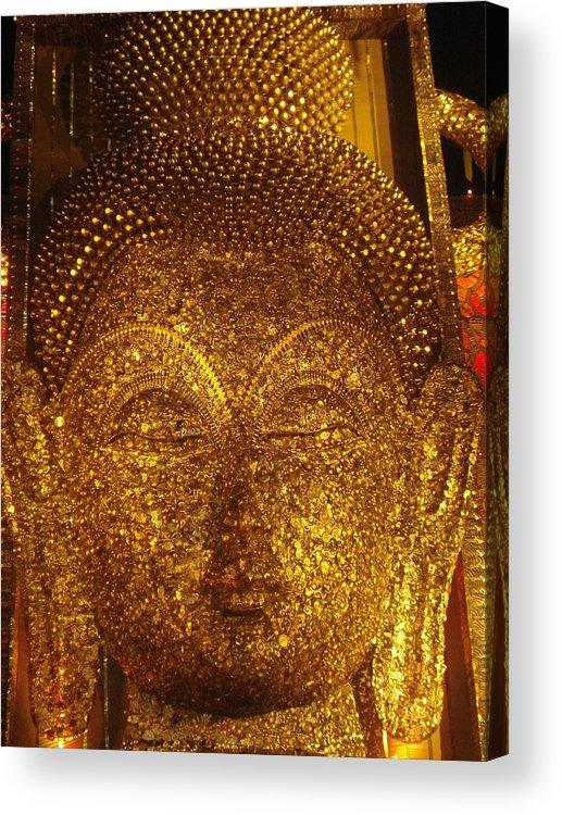 Installation Art Acrylic Print featuring the mixed media Buddha by Prasenjit Dhar