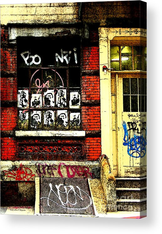 Chinatown Acrylic Print featuring the photograph Chinatown Graffiti by Anne Ferguson