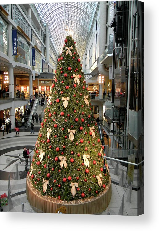 Christmas Acrylic Print featuring the photograph Christmas At The Eaton's Centre by Marwan George Khoury