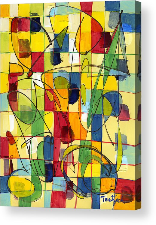 Abstract Acrylic Print featuring the painting Circus Partners by Lynne Taetzsch