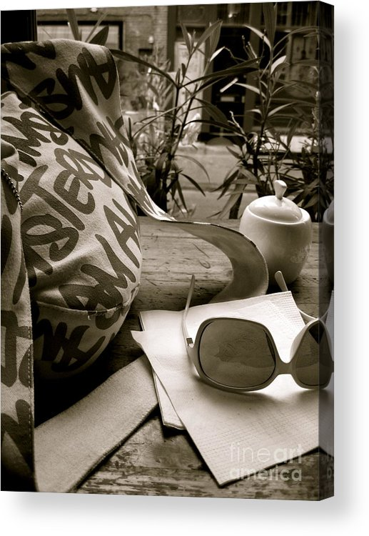 Coffee Shop Acrylic Print featuring the photograph Coffee Shop Bliss by Jessica Smeira