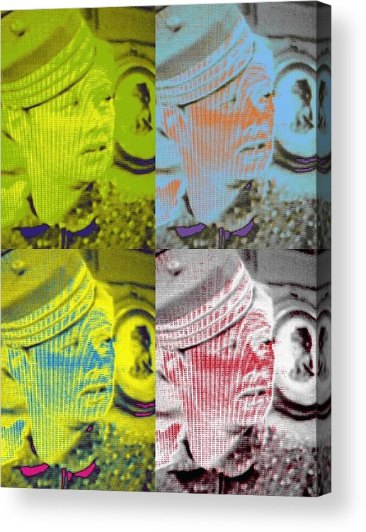 Artsy Acrylic Print featuring the photograph Colorful Lucy Ricardo In Semi-profile by Guy Ricketts