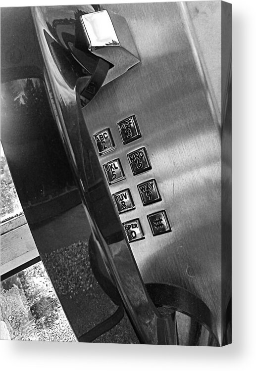 Handset Acrylic Print featuring the photograph Dial Tone by Kevin D Davis