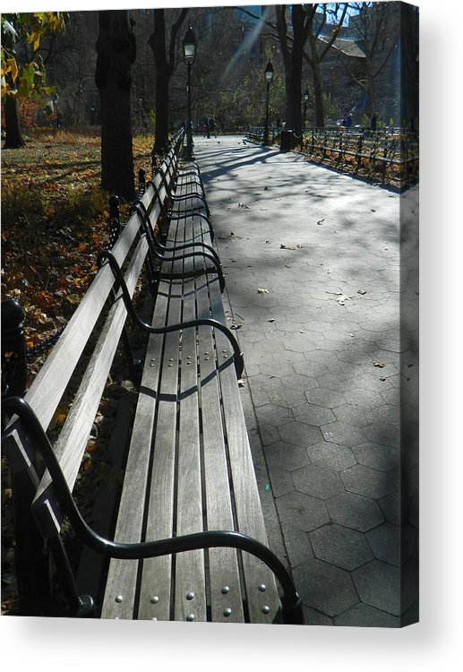 Bench Acrylic Print featuring the photograph Early Morning by Nancy Fischer
