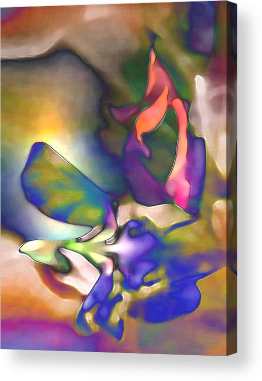 Floral Acrylic Print featuring the digital art Floral Intimacy by George Page