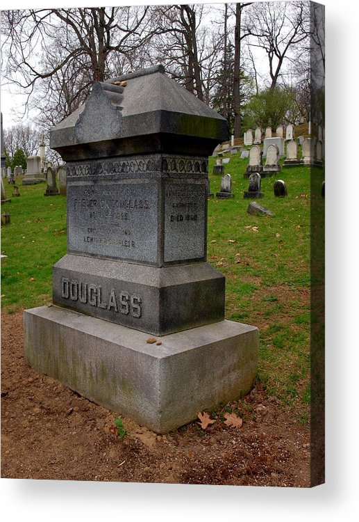 Rederick Douglass Acrylic Print featuring the photograph Frederick Douglass Grave Two by Joshua House