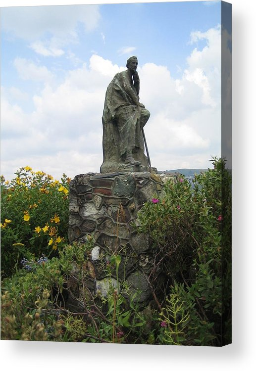 Garden Acrylic Print featuring the photograph Garden Thinker by Angela Rose