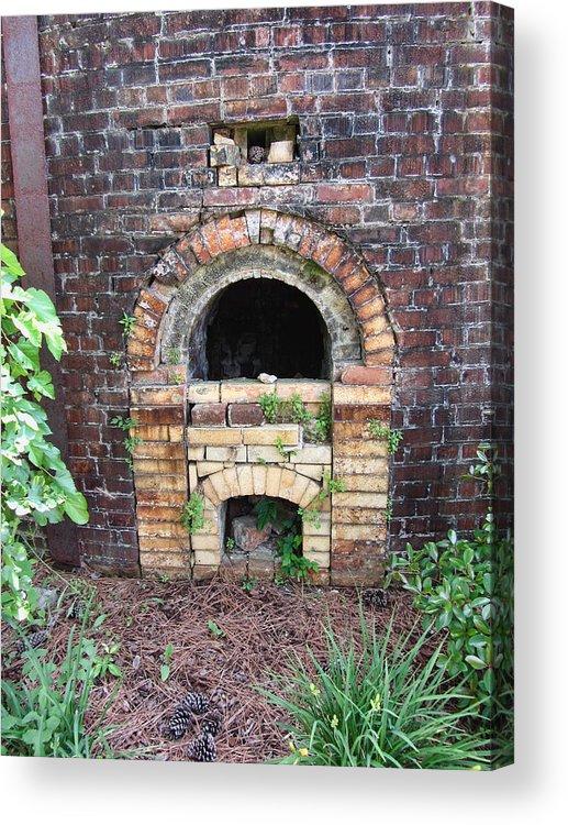 Brick Kiln Acrylic Print featuring the photograph Historical Antique Brick Kiln In Morgan County Alabama Usa by Kathy Clark