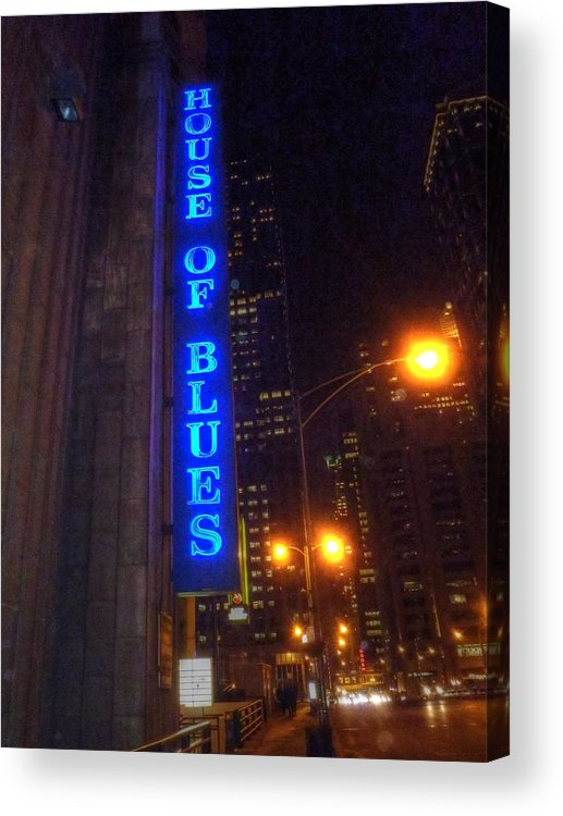 House Of Blues Acrylic Print featuring the digital art House Of Blues by Barry R Jones Jr
