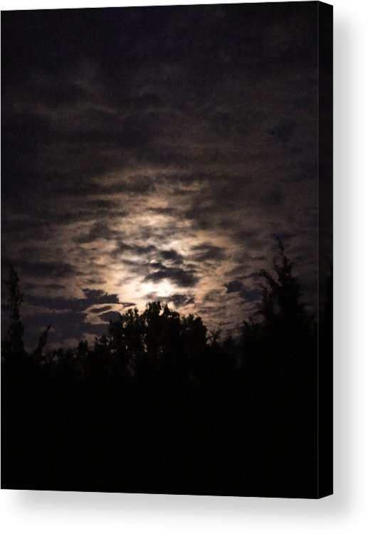 Clouds Acrylic Print featuring the digital art Howling Werewolves by Kendra Steiner